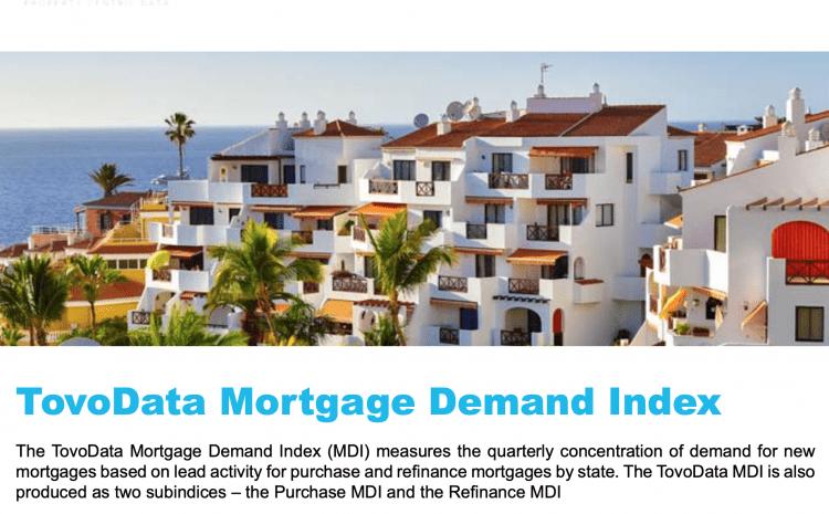 TovoData Mortage Demand Index Report 4th Quarter 2020